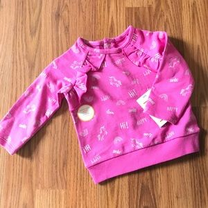Other - HP💕Precious pink unicorn top w ruffles - 6 months